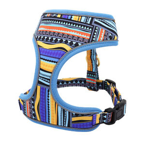 Reflective Small Pet Dog Harness Soft Breathable Mesh Padded Walking Vest Blue
