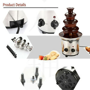Stainless Steel Chocolate Fondue Fountain DIY for Cheese BBQ Sauce Ranch