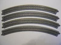 KATO 20-120 gebogenes Gleis R315-45° 4 Stück (34009)