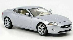 JAGUAR XK COUPE 1:24 Scale Model Diecast Toy Car Miniature Silver