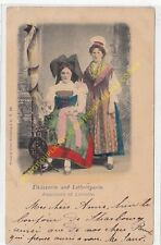 CPA FOLKLORE 67 COSTUMES ALSACIENNE LORRAINE Edit MANIAS & DILLES 1901
