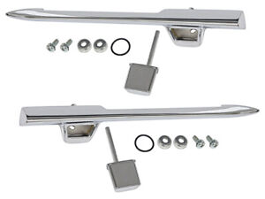 New 1961 Galaxie Door Handles Outside LH RH Pair Country Squire Fairlane Ford