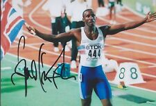 LINFORD CHRISTIE 2 Olympia 13x18 signiert IN PERSON Autogramm signed RAR