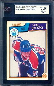 1983 OPC O PEE CHEE Hockey #29 Wayne Gretzky Graded KSA 7.5 NM + Edmonton Oilers