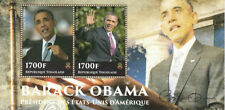 Togolese Sheet Politicians Famous People Postal Stamps