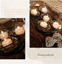 Sale!  10pcx Glass Floating Teallight Candle holders bowl wedding party decor