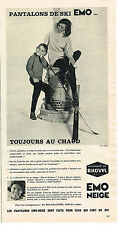 PUBLICITE ADVERTISING 084  1963  EMO    pantalons de ski  FRANCINE BREAUD DISTEL