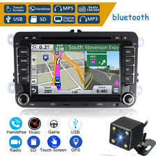 Camera 7'' Double DIN Car Stereo DVD Player Radio GPS SAT NAV For VW Passat Golf