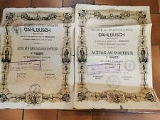 LOT 2 ACTIONS actions charbonnages dahlbusch 1873