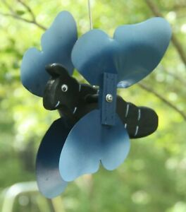 Butterfly Blue Mini Whirligigs Whirligig Windmill Yard Art Hand from wood
