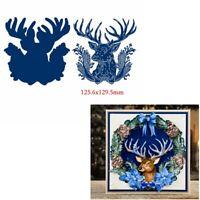 Christmas Blue Deer Metal Cutting Dies Craft DIY Embossing Stencil Scrapbooking