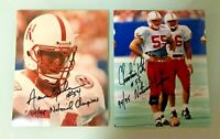 NEBRASKA FOOTBALL CHRISTIAN PETER #55 & AARON GRAHAM #54 SIGNED PHOTO CAPTAINS