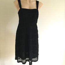 Women's NEW Party DRESS Size 8 black scallop lace stretch lined Sleeveless