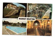 Shropshire - Market Drayton - Multiview Postcard