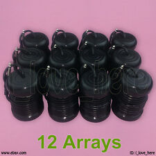 12 Black Round Arrays Replacement Ionic Detox Foot Bath Spa Ion Cell Cleanse Set