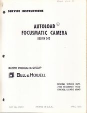 BELL & HOWELL SERVICE MANUAL: 342 PROJECTOR -1970