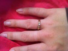 10K yellow gold ring diamond Pretty design Size 7 1.6 grams CW9