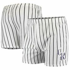 Colorado Rockies Concepts Sport Vigor Boxer Shorts - White
