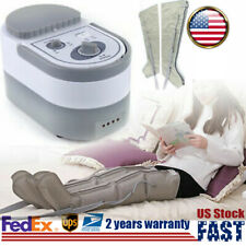 Air Compression Home Leg Massager Relax Foot Ankle Calf Wrap Massage Machine US