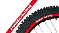 Blackbird Felgenaufkleber Dekor Felgen Rot Honda Racing CR CRF 125 250 450
