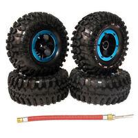 4Pcs Inflatable 2.2 Inch Beadlock Tire Wheel For 1/10 Rc Crawler Truck Wraith