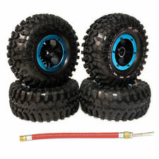 4Pcs Inflatable 2.2 Inch Beadlock Tire Wheel For 1/10 Rc Crawler Truck Wraith