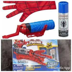 Marvel Spider-Man Super Web Slinger ~ NEW! Shoots Webs & Water Glove 2Cartridge