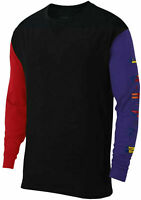 Nike Air Jordan Rivals Long Sleeve T-Shirt Black Red Purple BQ5551-011 Men's NWT