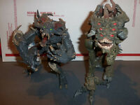 """Lot of 2 McFarlane Toys 7"""" Monster Creature Figures One for Parts or Repair AsIs"""
