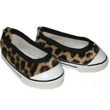 Leopard Canvas Slip on Sneakers Fits 18 inch American Girl Dolls