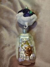 1999 Patricia Breen #9944 Visions of Sugar Plums Glitter Christmas Ornament 9""