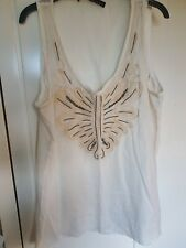 Zara Indian Cotton Embellished Top, Size Large