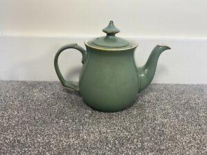 RARE Denby Regency Green Lidded Teapot Vintage Tea Pot Lid England Cermaic