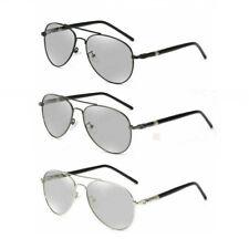 Transition Photochromic Sunglasses Polarized Driving Pilot Goggles Mens UV L391