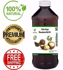 Macadamia Nut Oil  EXTRA VIRGIN Cold Pressed 100% Pure Unrefined Organic Carrier