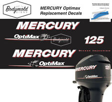 Mercury Optimax 125hp outboard decals 2008 Onwards