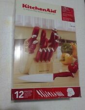 KitchenAid 12-pc Stamped Delrin with Endcap Cutlery Set w/Block
