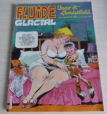 BD BANDE DESSINEE MENSUEL FLUIDE GLACIAL N° 61 EO JUILLET 1981