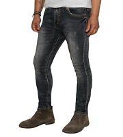 Jeans Uomo Slim Fit Pantaloni strappati elasticizzati Denim Pantalone casual