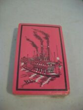 Vintage Deck Playing Cards - Queen Paddleboat - Pink Background - Sealed