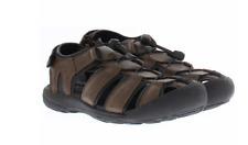 Khombu men's sandals size 10 gray adjustible water rugged active