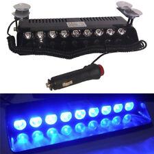 9LED Strobe Light Bar Red Car Truck Dash Flashing Warning Lamp 12V Blue 1PCS