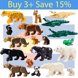 *NEW* Lego WILD ANIMAL PICK Parts Bulk Jungle Forest Black Panther Zoo Bear City