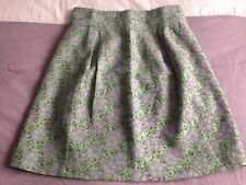 Topshop 100% linen summer skirt - UK 8 - Floral greem