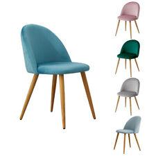 2x Stühle Lehnstuhl Esszimmer-Stuhl Polsterstuhl Samt Sessel Konferenzstuhl DE