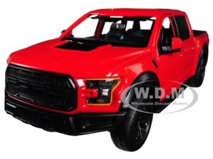 Box Damaged 2017 FORD F-150 RAPTOR PICKUP TRUCK RED 1/27 BY MOTORMAX 79344