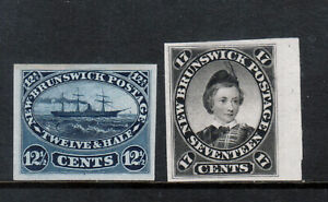 New Brunswick #10P - #11P Extra Fine Proof Duo On India Paper