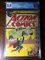 Action Comics #33 (1941) - Golden Age Superman! Mr. America Origin! - CGC 3.5
