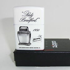ZIPPO Feuerzeug LADY BRADFORD White matte Zippo Logo NEU OVP Sammlerstück!!