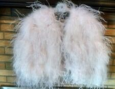 Ralph Lauren Collection Soft Pink Ostrich and Turkey Feather Cape, NWT $2498 M/L
